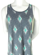 Mossimo Supply Co Athletic Fit Multi Color Abstract Print Mens Tank Top Medium - $14.95