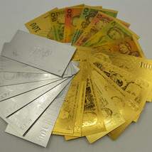 3 Sets Of 1980s Australia Dollar Banknotes 21PCS Colored/Gold/Silver AUD... - $52.87