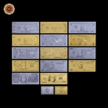 .999 Pure Gold&Silver US Dollar Banknote Set Of 14pcs American Bill Coll... - $31.28