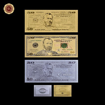 1993 $50 Star Fifty Dollar Banknote 3PCS US Gold/Silver/Colored Dollar B... - $10.22