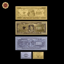 3 PCS US $1 Billion Dollar Notes Fine 24k Gold/Silver/Colored Banknote B... - $10.22