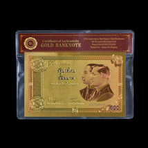 Thailand 100 Baht 2002 Commemorative 1:1 Paper Style 24k Gold Foil Banknote - $5.00