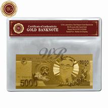 Korea 5000 Won 24k Fine Gold Foil Banknote 2008 Design King Korea Note I... - $5.00