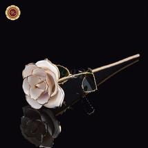Real White Rose Dipped in 24k Gold Foil Elegant... - $21.40