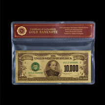 999 Gold $10000 Dollar Banknote Bill Colored U.S Uncirculated Note In CO... - $5.00