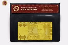 UKRAINE 20 HRYVNAS 24k Gold Banknote Novelty UAH Note Uncirculated In PV... - $5.00