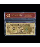 Colored $1 Million Dollar Bill .999 Fine Gold U.S Banknote In Sleeve Col... - $5.77