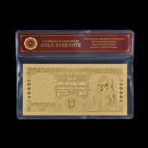 ITALY 1970 50000 Lire Note DA VINCI .999 24k Gold Banknote For Collectio... - $3.50