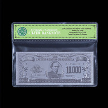 Silver $10,000 Banknote US America Real 99.9 Silver Dollar Bill Note In ... - $5.36