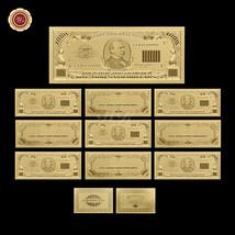 A Lot American $1000 999 Fine Gold U.S Dollar Banknote Uncirculated 10pc... - $33.52