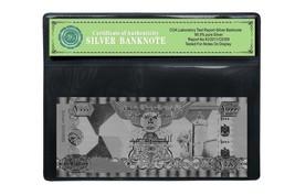 United Arab Emirates 1000 Dirhams Silver Bill Real 999 Silver Banknote F... - $5.36