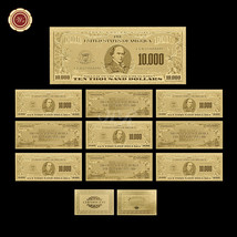 10PCS U.S Dollar Notes $10000 Pure Gold Banknote Uncirculated Bill Lot F... - $33.52