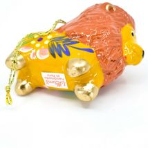 Handcrafted Painted Ceramic Brown Orange Lion Confetti Ornament Made in Peru image 5