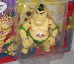 TMNT ✰✰ RARE TATOO figure w/ STICKER on Belly ✰ (MOC) UNPUNCHED 1991 USA... - $46.99