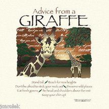 YOUTH T-shirt Advice From a Giraffe Gildan Nature S M L Cotton NWT New Natural - $14.14