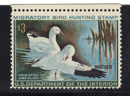 US Duck Stamp Revenue RW37 1970 $70 cv MNH Never Hinged - $13.42