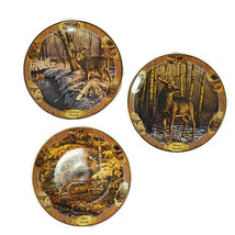 Set of 3 Small Deer Collector Plates Visions of the Wild by Bradford Exc... - $21.50