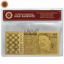 Portugal Banknote 10000 Escudos 24k Gold Foil Plated 1998 Edition In COA... - $5.00