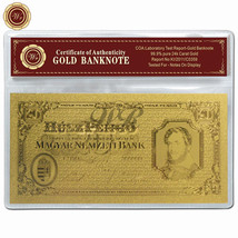 1926 HUSZ Pengo Note Hungary 20 Pengo 24k Gold Foil Banknote Unique In C... - $5.00