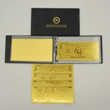 Full 14 PCS America Dollar Gold Banknote Album $1 - $1 Billion 24k Gold ... - $46.77