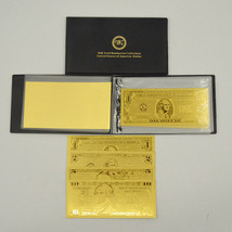 Gold America  $1 - $100 Banknote Album Of 7 PCS US Dollar Bill Note Coll... - $22.83
