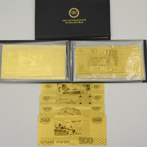 Complete RUSSIA 7 Banknotes Album 24k Gold Russian Ruble Note Set For Co... - $25.71