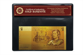 1980s Australia $1 One Dollar 24k 99.9 Gold Foil Banknote Nice Gift Coll... - $5.77