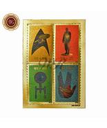 Star Trek 50th Anniversary Stars on Non Postage 24k Gold Foil Stamps Set... - ₹355.58 INR