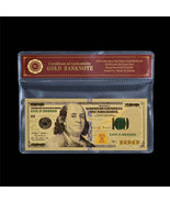New U.S Note $100 One Hundred Dollars Colorful 24k Gold Banknote With CO... - $5.00