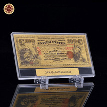 WR Note 1875 American USD $100 us gold banknotes 99.9 pure gold + Display Case - $9.50