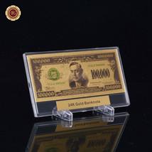 WR Novelty Banknote US 100,000 Dollar 24k Gold Bill Souvenir Display Mon... - $9.50