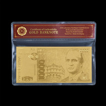 WR Gold Banknote Spain 10000 Pesetas España Gold Foil Paper Money Busine... - $5.00