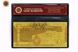 WR 1966 Saudi Arabia 100 Riyals Banknote 999 Gold Plated Money Note Gift... - $3.50