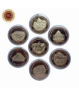 New Seven Wonders of The World 24k Gold Plated Coin Series Set of 7pcs B... - $31.17