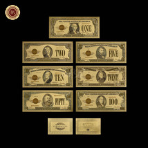 US 1928 Series Gold Certificate Banknote Set of 7pcs $1 - $100 24k Gold ... - $20.48