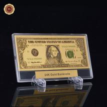 WR $1 Bill Money US 999 Gold Dollar Banknote /w Acrylic Display Slab Fra... - $11.17