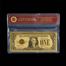 Unique Gold Certificate 1928 US Dollar Note $1 Fine 24k Gold Plated Bank... - $5.00