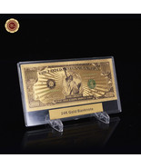 WR Colored 3D Gold $1 Million Bank Note US Dollar Bill Collectible Plast... - $11.17