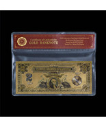 1899 Series $2 Two Dollar Silver Certificate US Gold Banknote Fine 24k G... - $5.00