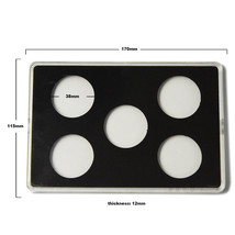 High-transparent Acrylic Coin Display Holder 38mm Diameter Storage For 5... - $9.72