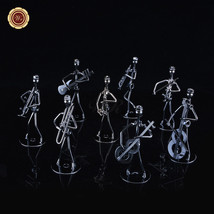 """WR 5"""" Wrought Iron Music Player Figurine Metal Musician Musical Statue F... - $13.34"""