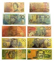 WR Australia 5 Polymer Banknotes Complete Set $5-$100 Gold Foil Dollar Note COA - $16.70