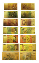 1980s Australia Gold Banknote Set 7 PCS Colored Notes Finished 24k Gold ... - $26.37