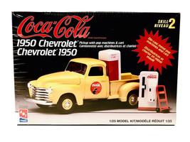 Vintage AMT 1/25 Scale Coca-Cola 1950 Chevrolet Pick Up Model Kit - $42.97