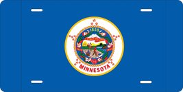 Minnesota Flag Personalized Custom Novelty Tag Vehicle Car Auto Motorcyc... - $16.75