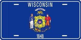 Wisconsin Flag Personalized Custom Novelty Tag Vehicle Car Auto Motorcyc... - $16.75