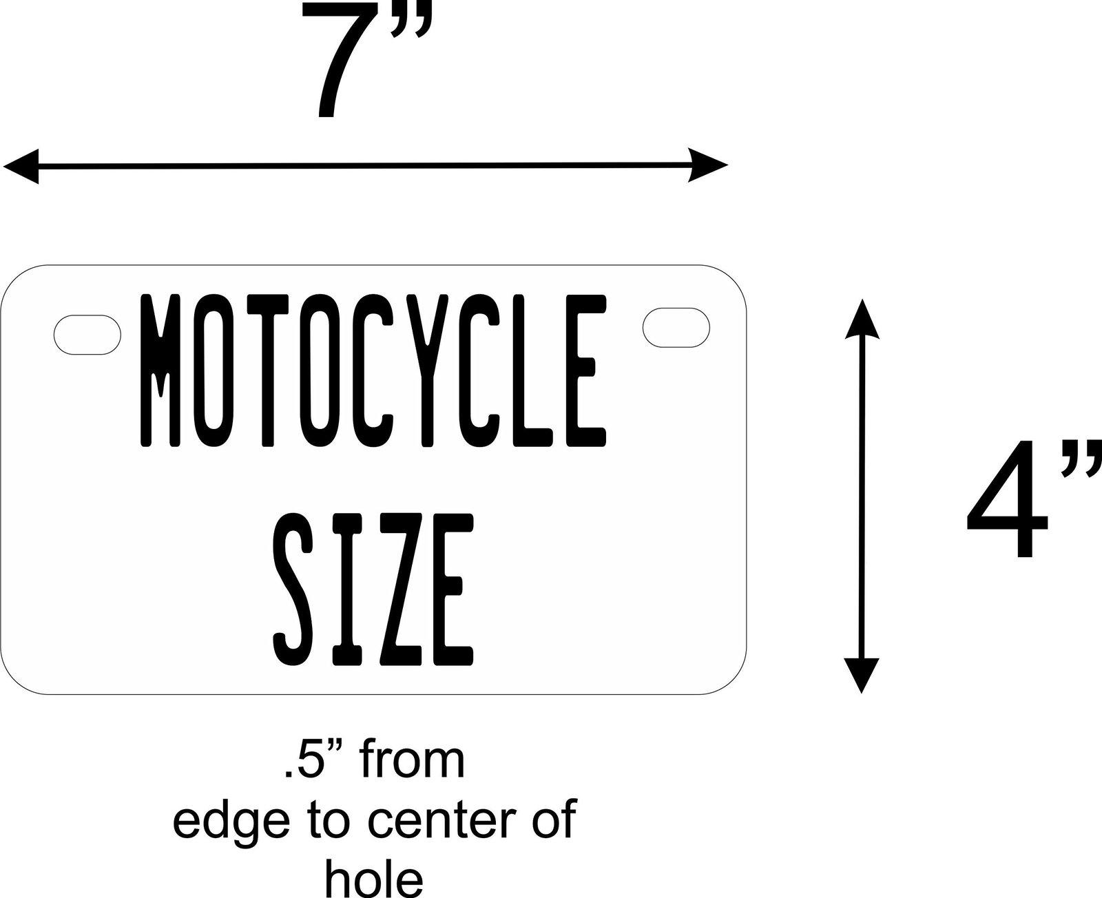 Wisconsin Flag Personalized Custom Novelty Tag Vehicle Car Auto Motorcycle Mo...