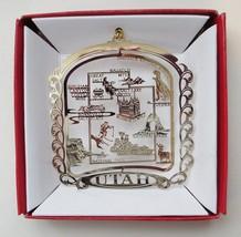 Utah Ornament State Landmarks Christmas Brass Souvenir Travel Gift - $13.95
