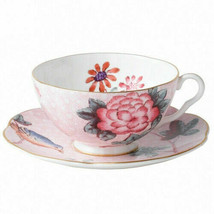 Wedgwood Harlequin Cuckoo Tea Story Pink Teacup and Saucer in Round Gift Box NEW