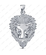 14k White Gold Plated 925 Silver Round Cut CZ Classy Lion Head Bahubali ... - $105.07
